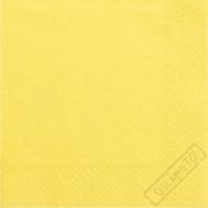 Jednobarevné papírové ubrousky žluté