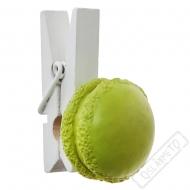 Dekorační kolíček s makronkou zelený