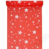 Stolová šerpa z netkané textilie Star červená