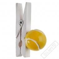 Dekorační dřevěný kolíček Tenis