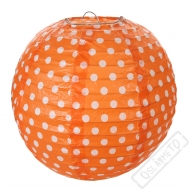 Závěsný lampion s puntíky oranžový