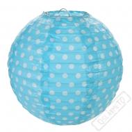 Závěsný lampion s puntíky modrý