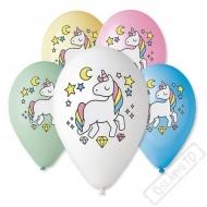 Latexové balónky s potiskem Jednorožec