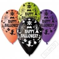 Latexový balónek s potiskem Happy Halloween