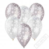 Latexový balónek s potiskem Snowflakes