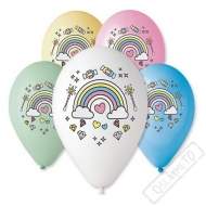 Latexové balónky s potiskem Rainbow