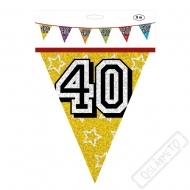 "Narozeninová girlanda vlajky ""40"""