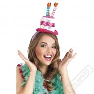 Party čelenka s kloboučkem Happy Birthday