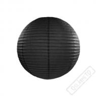 Papírový lampion kulatý černý 25cm