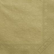 Metalické papírové ubrousky zlaté