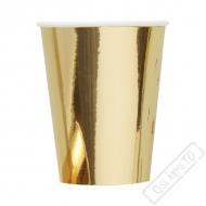 Papírové barevné kelímky zlaté