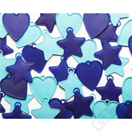 Těžítko na balónky mini mix Blue