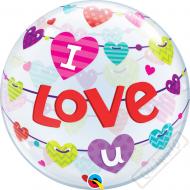 Nafukovací balón bublina I Love U 56cm