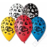 Latexový balónek s potiskem Auta