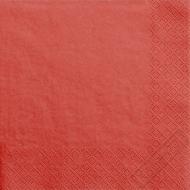 Jednobarevné papírové ubrousky červené