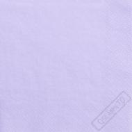 Jednobarevné papírové ubrousky lila