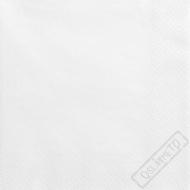 Jednobarevné papírové ubrousky bílé
