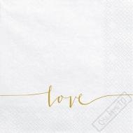 Papírové svatební ubrousky Pure Love