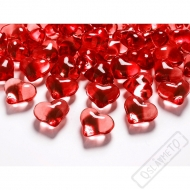 Dekorační krystaly srdce červené