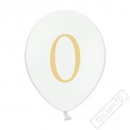Nafukovací balónek latexový s číslem 0 bílý