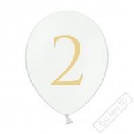 Nafukovací balónek latexový s číslem 2 bílý
