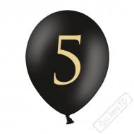 Nafukovací balónek latexový s číslem 5 černý