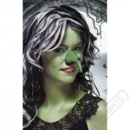 Nos čarodějnický zelený s bradavicí