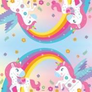 Papírové party ubrousky Jednorožec Rainbow