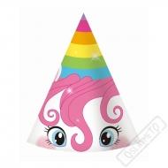 Papírové party kloboučky Jednorožec Rainbow