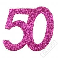 Glitrová dekorace číslo 50 růžová