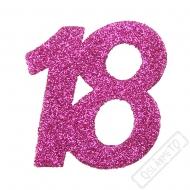 Glitrová dekorace číslo 18 růžová