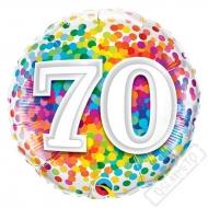 Narozeninový balónek Confetti číslo 70, 45cm