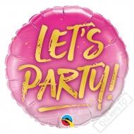 Nafukovací balónek fóliový Let's Party! 45cm