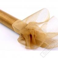 Dekorační organza Glittery Gold šíře 36cm