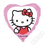 Nafukovací balónek fóliový Hello Kitty Srdce 45cm