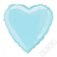 Nafukovací balónek fóliový Srdce azurové 45cm