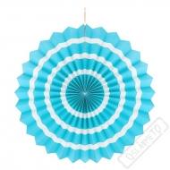 Závěsná papírová rozeta pruhovaná modrá