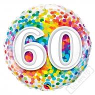 Narozeninový balónek Confetti číslo 60, 45cm