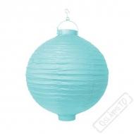 Závěsný lampion s žárovkou modrý