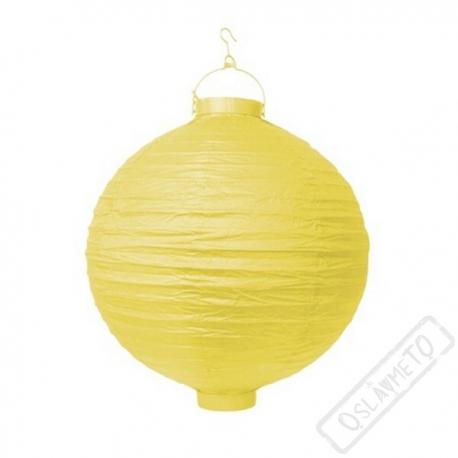 Závěsný lampion s žárovkou žlutý
