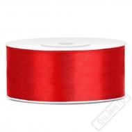 Saténová stuha šíře 2,5cm červená