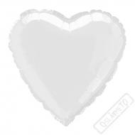 Nafukovací balónek fóliový Srdce bílé 45cm