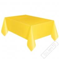 Plastový party ubrus žlutý