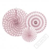Závěsné papírové rozety růžové