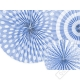 Závěsné papírové rozety azurové
