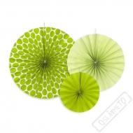 Závěsné papírové rozety zelené