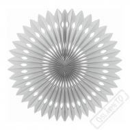 Závěsná papírová rozeta střbrná