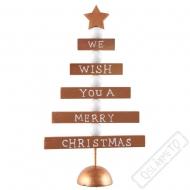 Dekorační dřevěný stromeček Copper