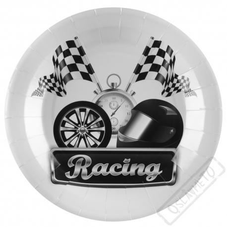 Papírové party talíře Racing