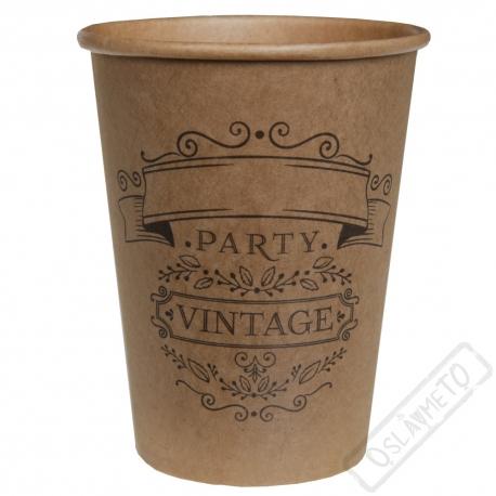 Papírové party kelímky Vintage